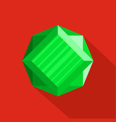 shining diamond icon flat style vector image