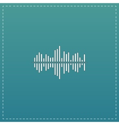 Sound wave icon - equalizer music element or vector