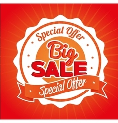 special offer big sale emblem vector image