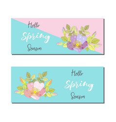 Spring sale banners poster tag design design with vector