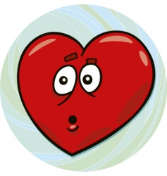 startled heart vector image vector image