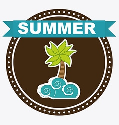 summer design vector image