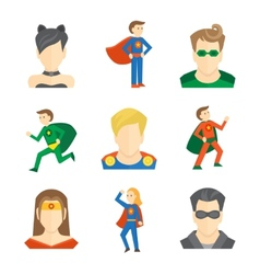 Superhero icon flat vector image