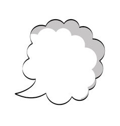 text balloon icon vector image vector image