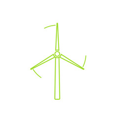 Wind turbine tower linear icon design vector