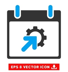 Gear integration calendar day eps icon vector