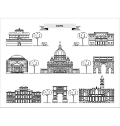 Building of rome vector