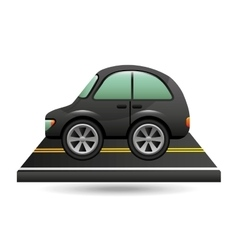 Micro car on road design vector