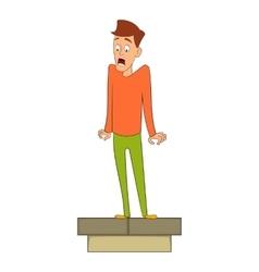 Fear of height icon cartoon style vector