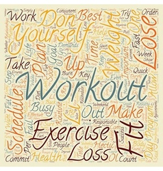 Lose weight how to exercise and burn fat on a busy vector