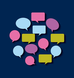 communication speech bubble vector image