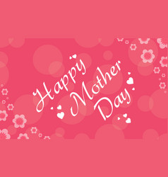 Style of mother day background vector