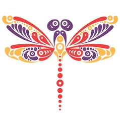 Beautiful dragonfly tattoo vector image