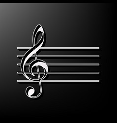 Music violin clef sign g-clef gray 3d vector