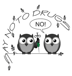 No to drugs vector