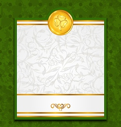 Celebration card with coin for st patricks day vector