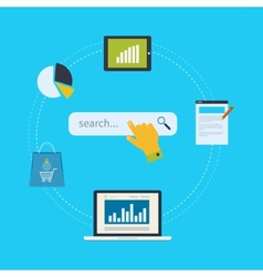 Concept of website analytics and seo data analysis vector