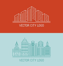 linear city logo concepts vector image
