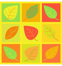 Retro leaves illustration vector