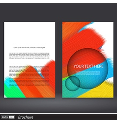 Abstract acrylic painted brochure vector