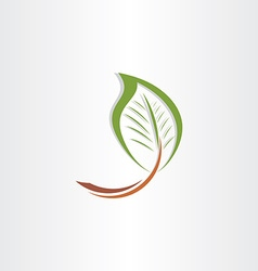 Branch leaf eco symbol vector
