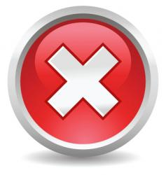 button delete vector image