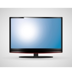 Tv screen icon vector
