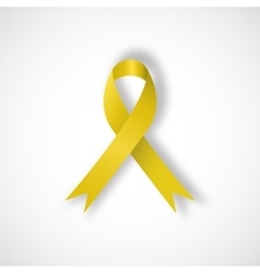 Yellow awareness ribbon vector