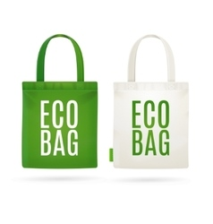 Eco fabric cloth bag tote vector