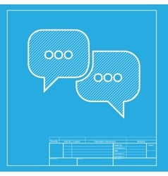 Speech bubbles sign white section of icon on vector