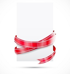 Promo tag red ribbon vector
