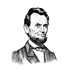 Abraham lincoln portrait 16th usa president vector