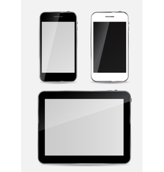 Abstract Design Mobile Phone and Tablet PC vector image