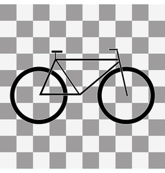 Bicycle icon on a transparent vector image vector image