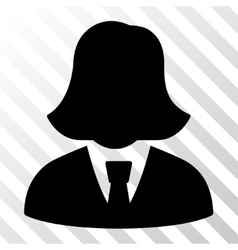Business lady icon vector
