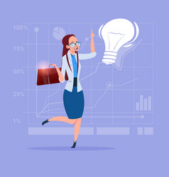 business woman new creative idea concept with vector image vector image