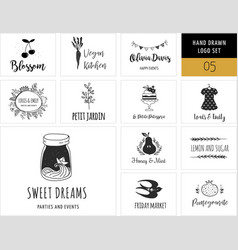 collection of modern logos and vector image vector image