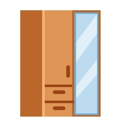 Cupboard isolated vector image vector image