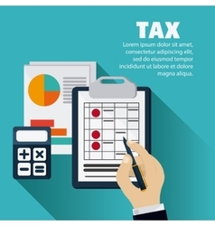 Document and calculator icon Tax and Financial vector image vector image