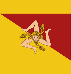 flag of sicily vector image vector image