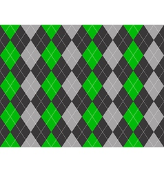 Gray green fabric argyle seamless pattern vector