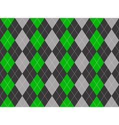 Gray green fabric argyle seamless pattern vector image