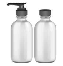 Grey cosmetic bottles vector image vector image