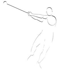 Hammer throwing vector image