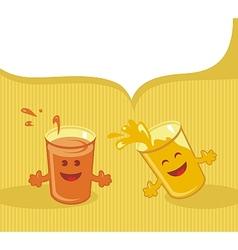 Happy Glasses Cartoon vector image