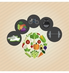 Healthy lifestylefitness design bodybuilding vector