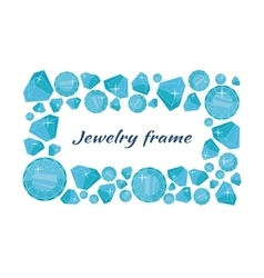 Jewelry frame concept in flat design vector