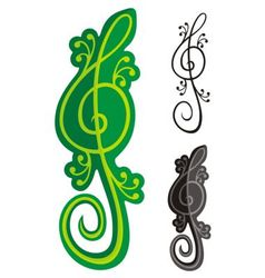 lizards treble clef vector image vector image
