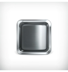 Metal box app icon vector image