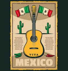 Mexican holiday cinco de mayo fiesta sketch poster vector